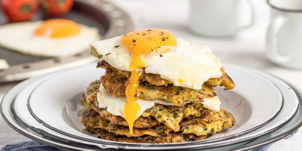 Egg & Potato Breakfast Stack - COBB Grill Recipe